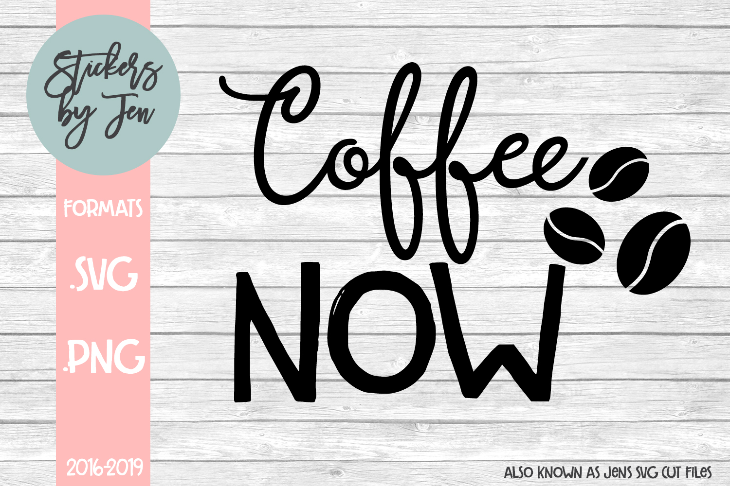 Download Free Coffee Now Graphic By Stickers By Jennifer Creative Fabrica for Cricut Explore, Silhouette and other cutting machines.