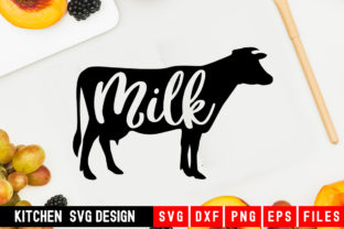 Print on Demand: Cow Milk Graphic Crafts By Designdealy