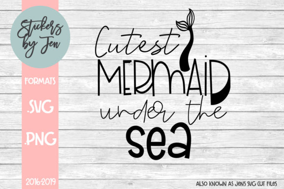 Download Free Cutest Mermaid Under The Sea Graphic By Jens Svg Cut Files for Cricut Explore, Silhouette and other cutting machines.