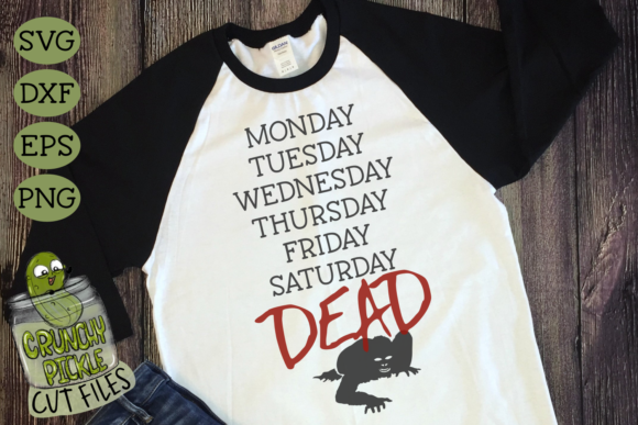 Dead Zombie Week Graphic Crafts By Crunchy Pickle - Image 3