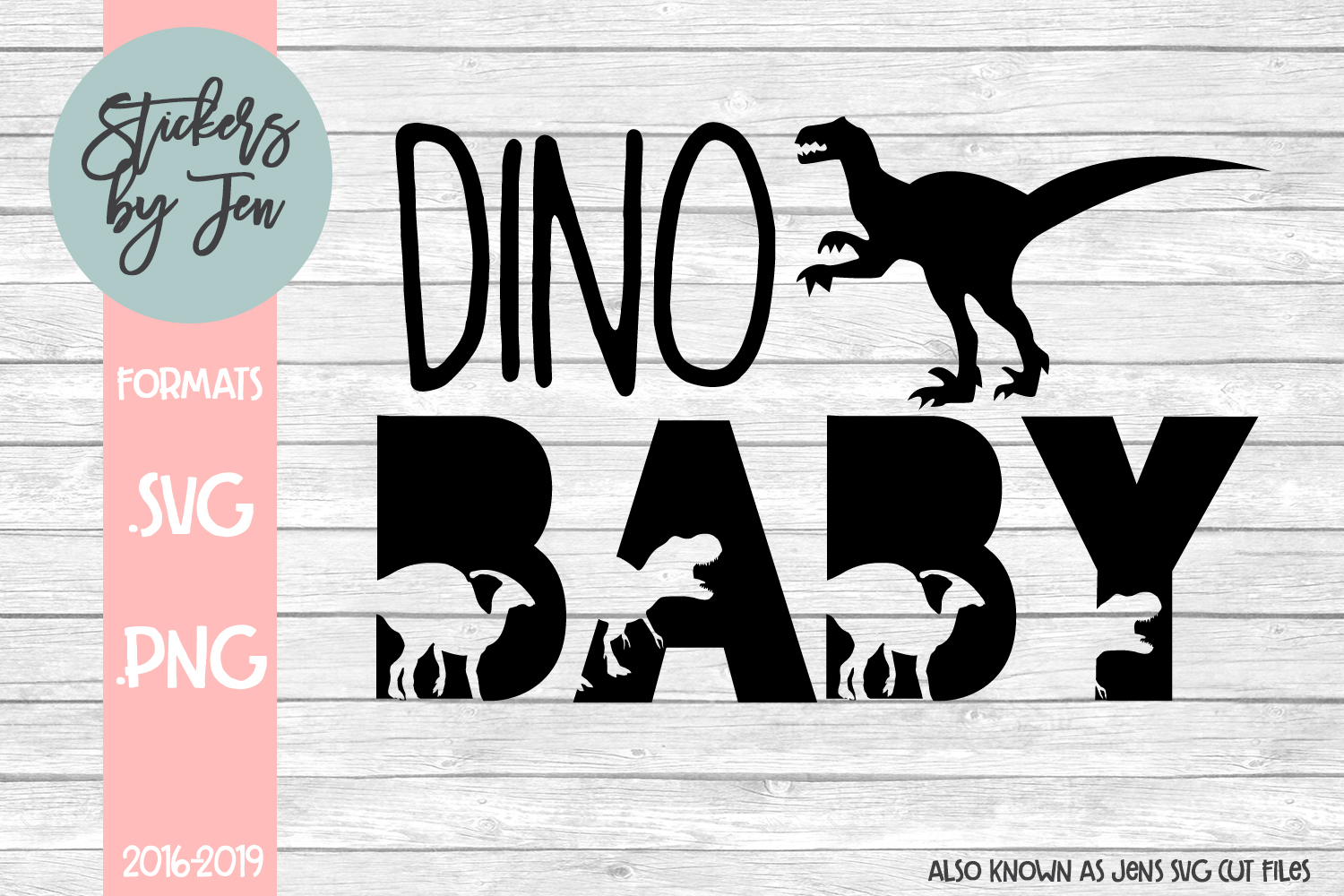 Download Free Dino Baby Graphic By Stickers By Jennifer Creative Fabrica for Cricut Explore, Silhouette and other cutting machines.