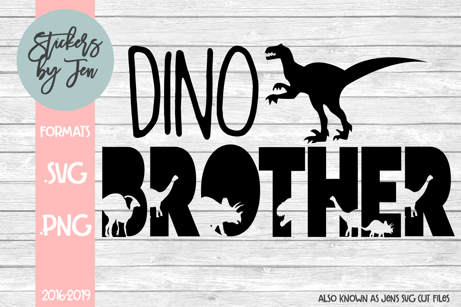 Download Free Dino Brother Graphic By Jens Svg Cut Files Creative Fabrica for Cricut Explore, Silhouette and other cutting machines.