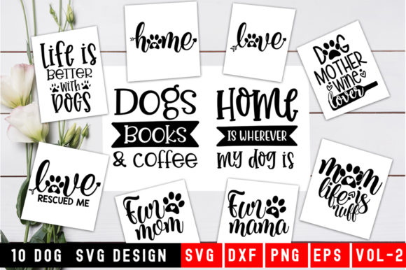 Print on Demand: Dog Quotes Bundle Graphic Print Templates By Designdealy.com
