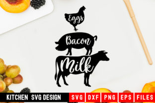 Print on Demand: Eggs Bacon Milk Graphic Crafts By Designdealy