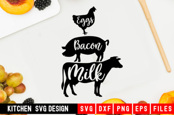 Download Free Eggs Bacon Milk Graphic By Designdealy Com Creative Fabrica for Cricut Explore, Silhouette and other cutting machines.