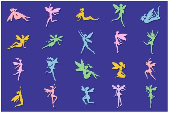 Print on Demand: Fairies Shapes & Compositions SVG Bundle Graphic Crafts By Anastasia Feya - Image 5