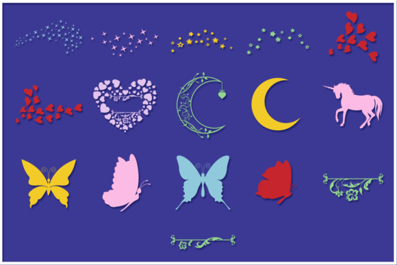 Print on Demand: Fairies Shapes & Compositions SVG Bundle Graphic Crafts By Anastasia Feya - Image 6