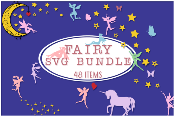 Print on Demand: Fairies Shapes & Compositions SVG Bundle Graphic Crafts By Anastasia Feya