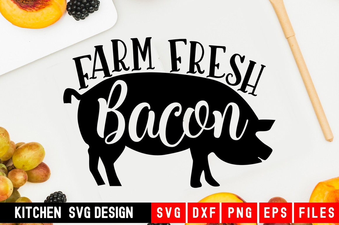 Download Free Farm Fresh Bacon Graphic By Designdealy Com Creative Fabrica for Cricut Explore, Silhouette and other cutting machines.