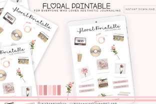 Floral Printable Bullet Journaling Graphic By RainbowGraphicx