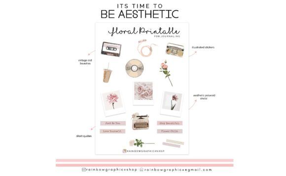 Print on Demand: Floral Printable Bullet Journaling Graphic Graphic Templates By RainbowGraphicx  - Image 2