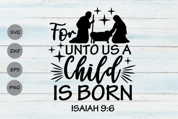 Print on Demand: For Unto Us a Child is Born Graphic Crafts By CosmosFineArt