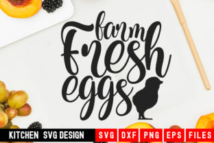 Print on Demand: Fram Fresh Eggs Graphic Crafts By Designdealy