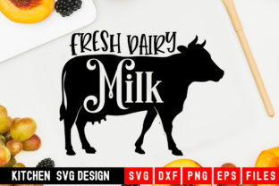 Print on Demand: Fresh Dairy Milk Design on a Cow Graphic Crafts By Designdealy