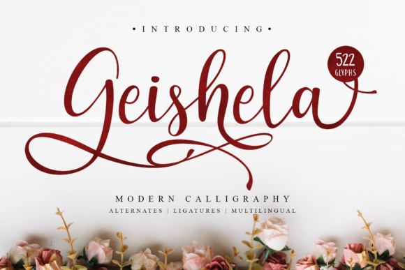 Print on Demand: Geishela Script Script & Handwritten Font By MJB Letters