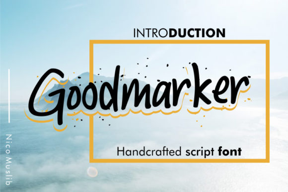 Print on Demand: Goodmarker Script & Handwritten Font By Nico Muslib