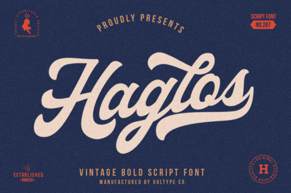 Haglos Font By vultype Image 1