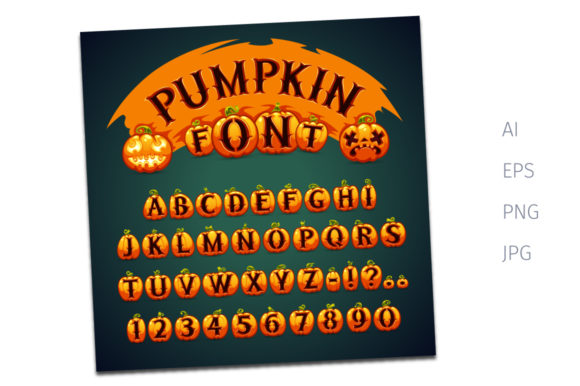 Halloween Pumpkin Vector Font Graphic Illustrations By Voysla's Shop
