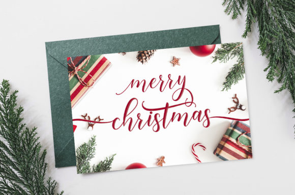 Download Free Happy Christmas Script Font By Amarlettering Creative Fabrica for Cricut Explore, Silhouette and other cutting machines.