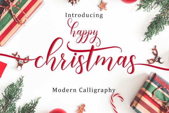 Print on Demand: Happy Christmas Script Script & Handwritten Font By Amarlettering