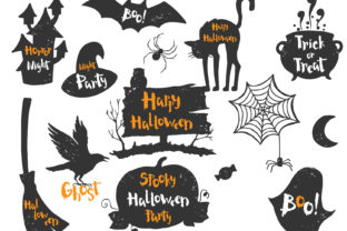 Happy Halloween Set Graphic By Skull and Rose