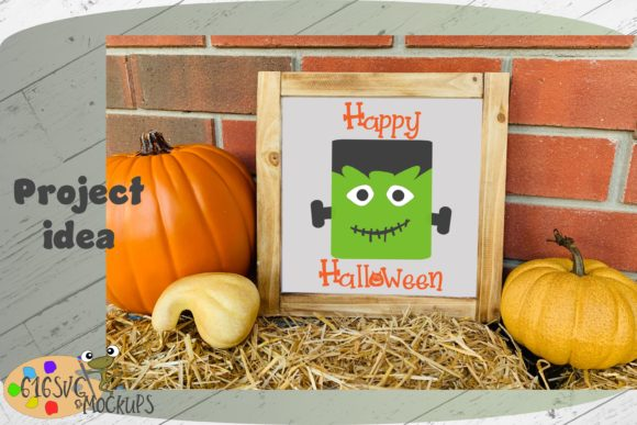 Happy Halloween W/ Monster Graphic By 616SVG