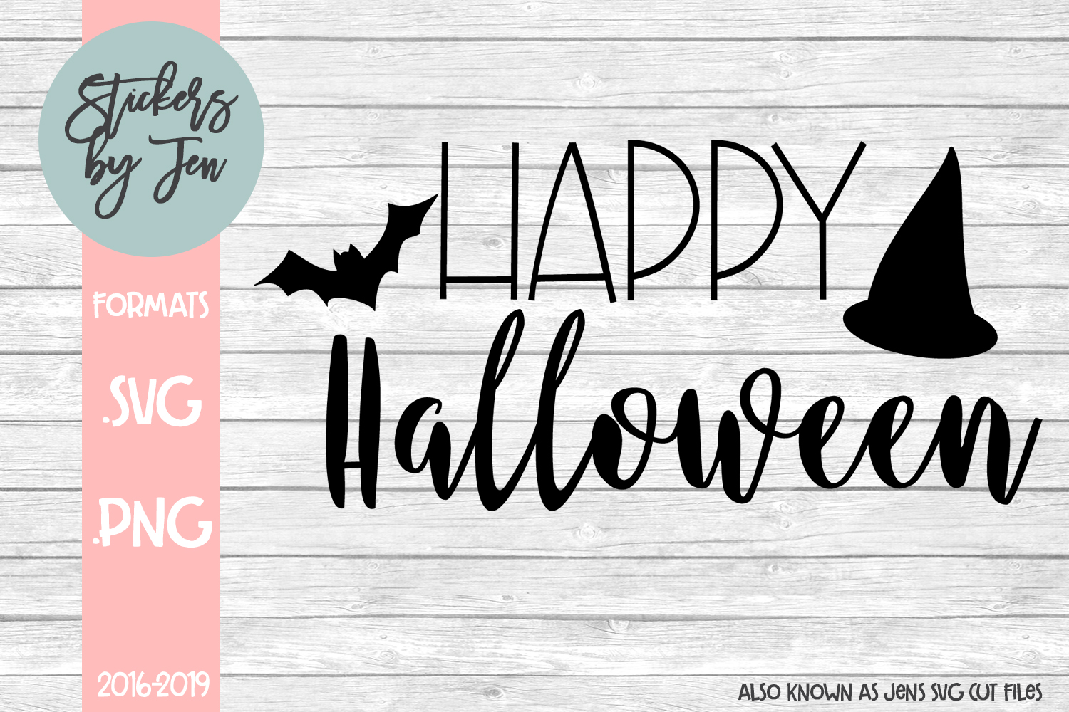 Download Free Happy Halloween Graphic By Stickers By Jennifer Creative Fabrica for Cricut Explore, Silhouette and other cutting machines.