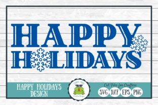 Happy Holidays Christmas Winter Graphic By funkyfrogcreativedesigns