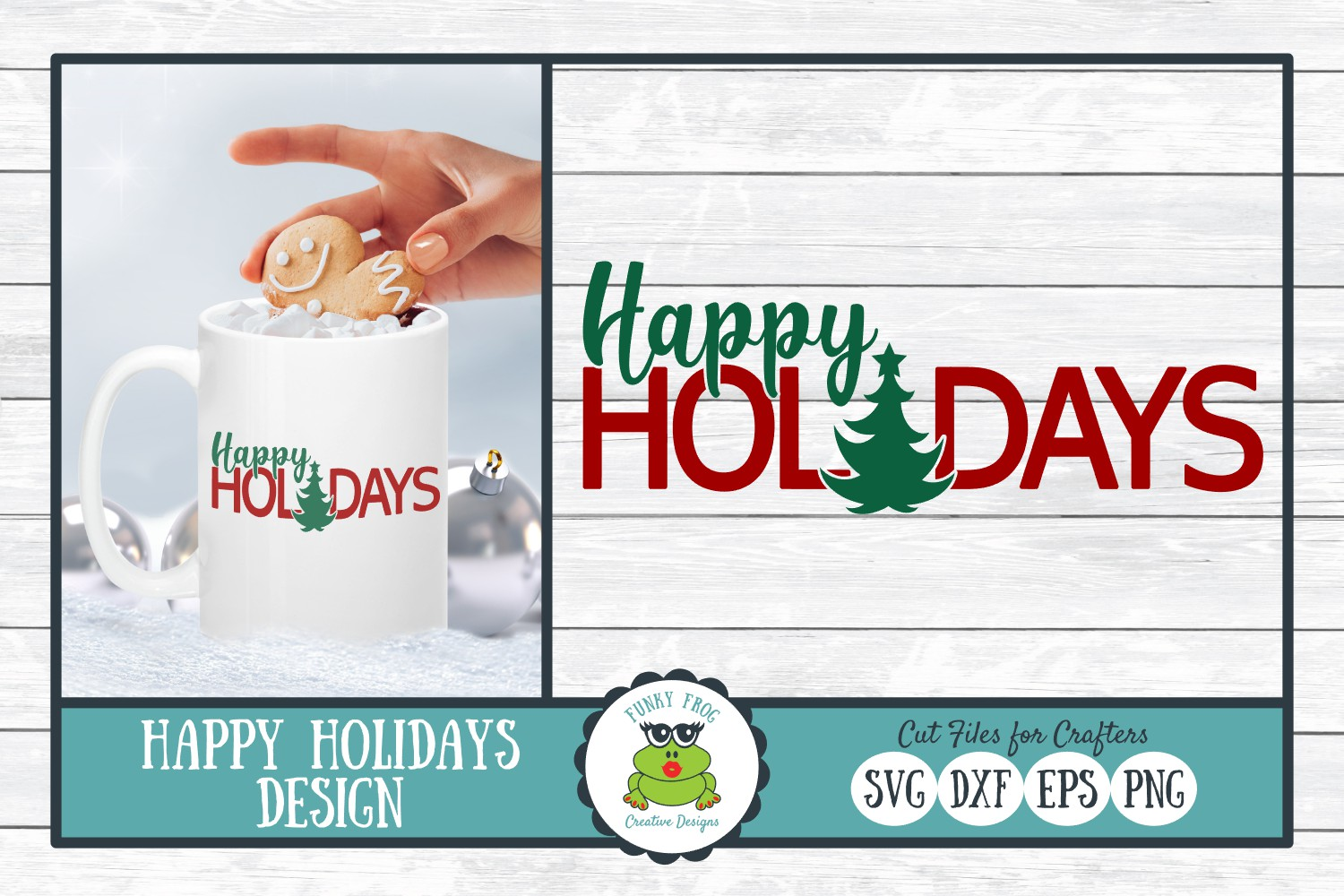 Happy Holidays Christmas Winter Graphic By