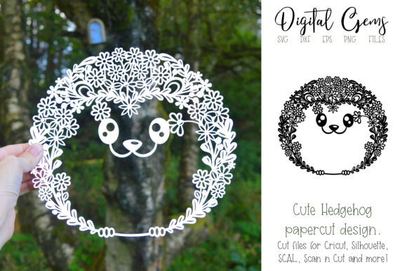 Hedgehog Papercut Design Graphic By Digital Gems