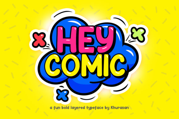 Print on Demand: Hey Comic Display Font By Khurasan