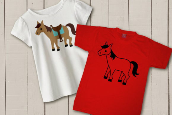 Horse with Saddle Graphic By RisaRocksIt Image 3