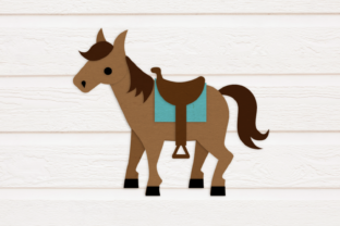 Horse with Saddle Graphic By RisaRocksIt