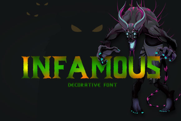 Infamous Display Font By gumacreative