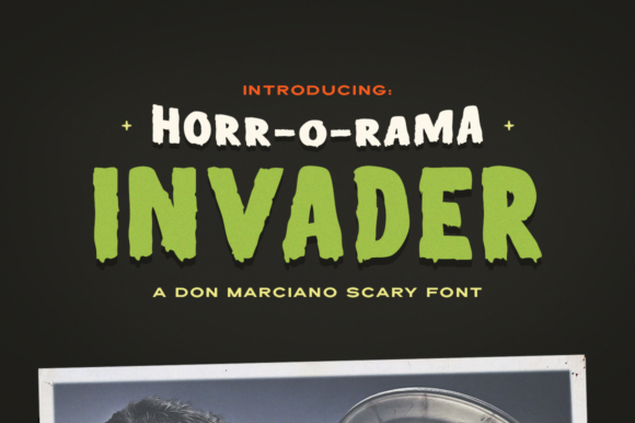 Print on Demand: Invader Display Font By DonMarciano