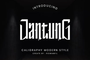 Print on Demand: Jantung Blackletter Font By fadilahridwan69