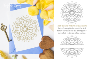 Download Free Mandala Sketch Foil Quill Design Graphic By Digital Gems for Cricut Explore, Silhouette and other cutting machines.