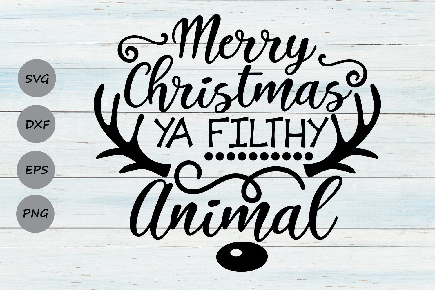 Merry Christmas Ya Filthy Animal Graphic By Cosmosfineart