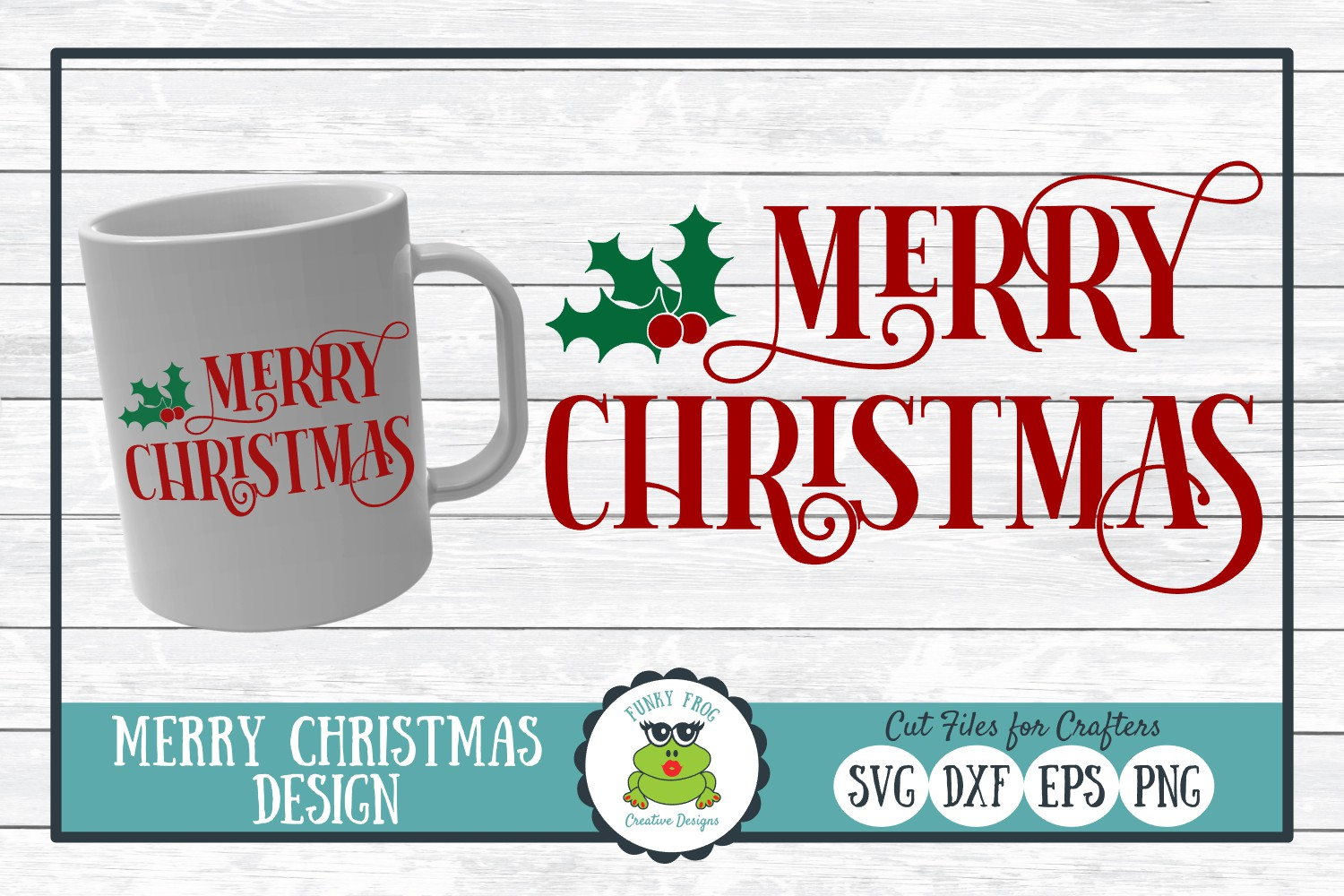 Download Free Merry Christmas Grafik Von Funkyfrogcreativedesigns Creative for Cricut Explore, Silhouette and other cutting machines.
