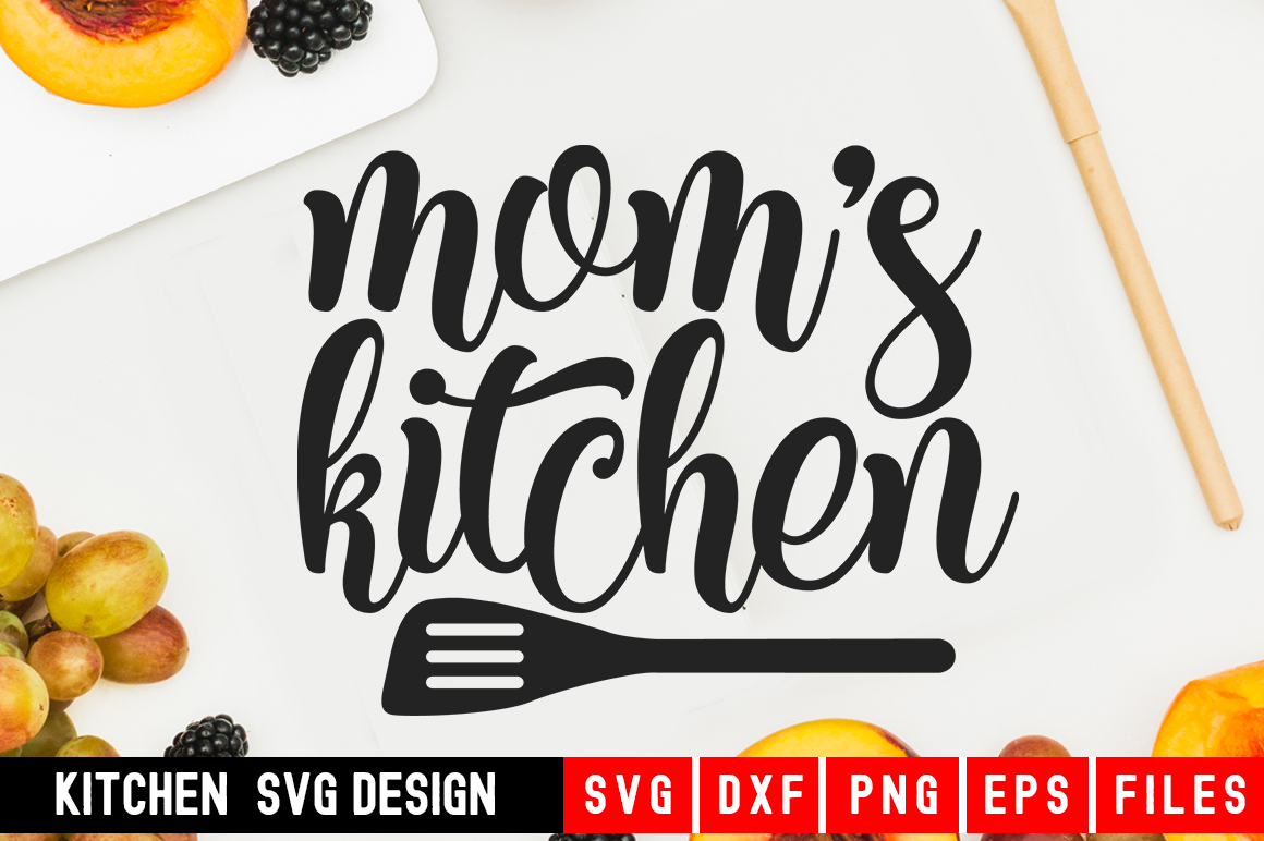 Download Free Mom S Kitchen Graphic By Designdealy Com Creative Fabrica for Cricut Explore, Silhouette and other cutting machines.