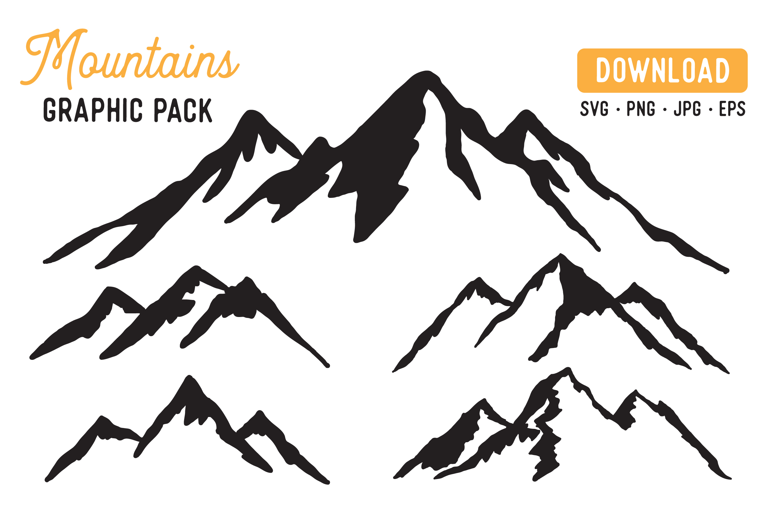 Download Free Mountain Vector Graphic By The Gradient Fox Creative Fabrica for Cricut Explore, Silhouette and other cutting machines.