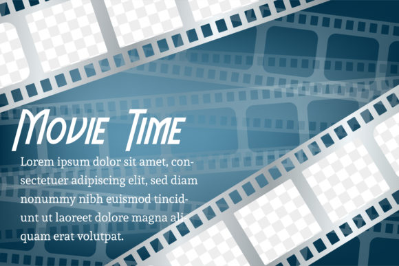 Print on Demand: Movie Background Blue Graphic Backgrounds By noory.shopper
