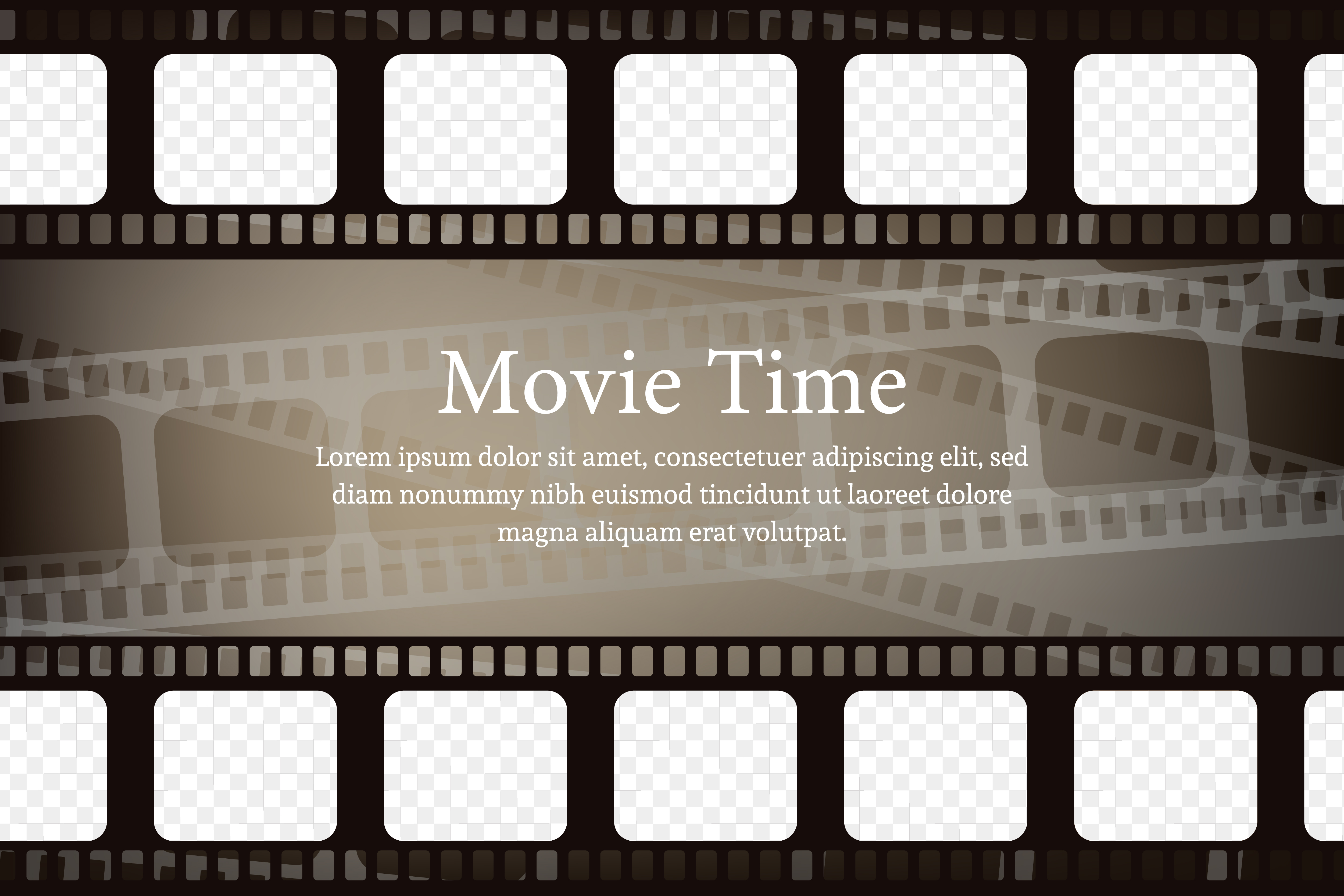Download Free Movie Background Brown Graphic By Noory Shopper Creative Fabrica for Cricut Explore, Silhouette and other cutting machines.