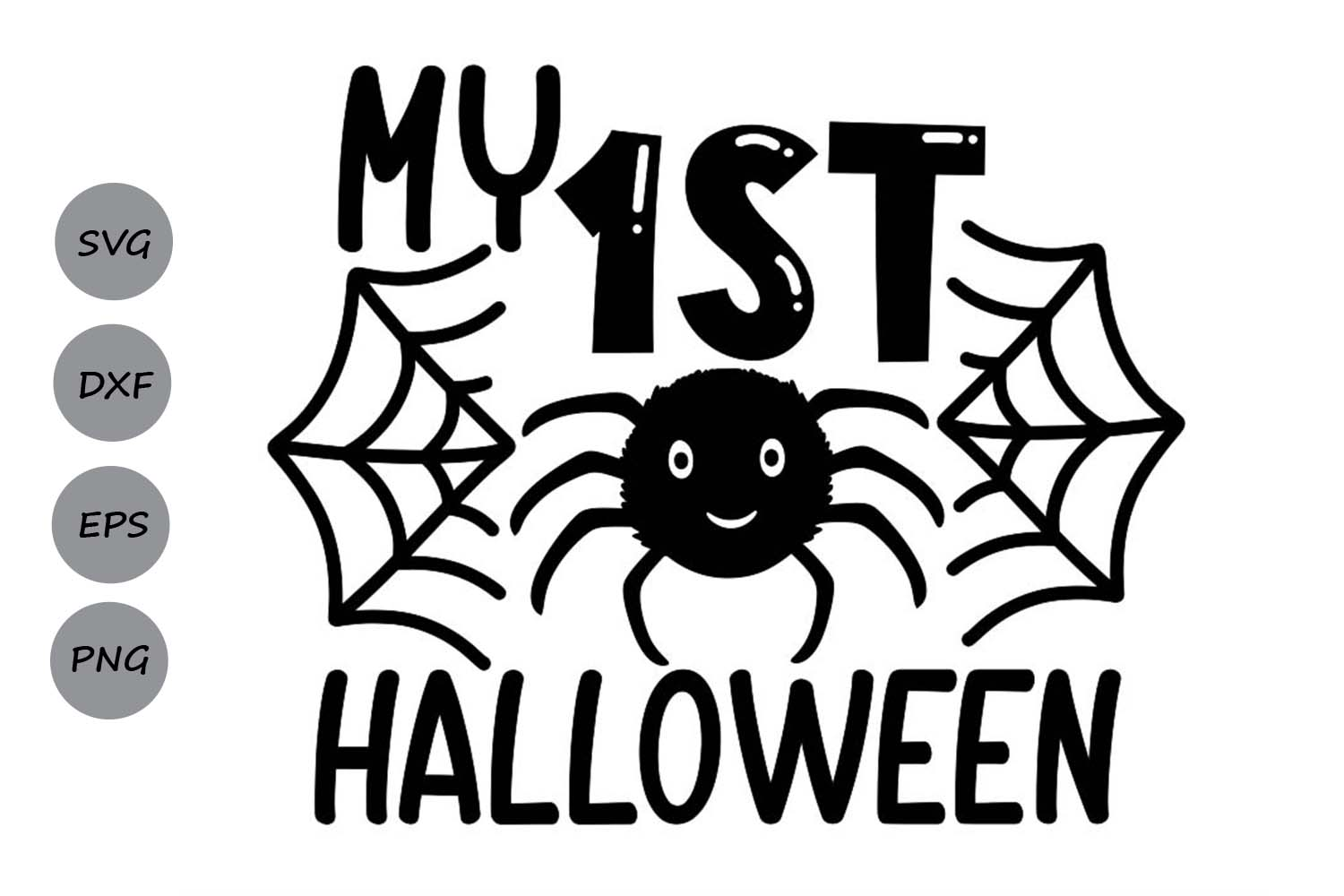 Download Free My 1st Halloween Graphic By Cosmosfineart Creative Fabrica for Cricut Explore, Silhouette and other cutting machines.