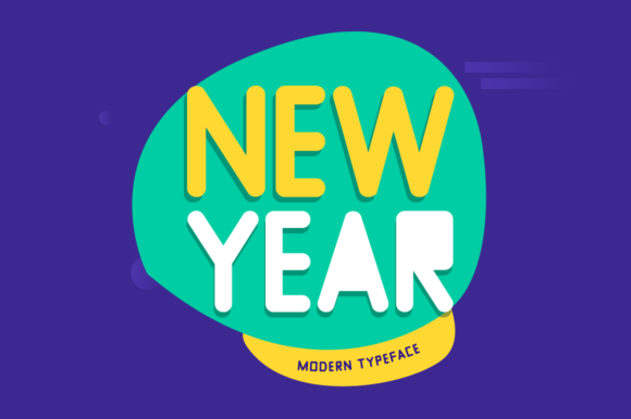 Print on Demand: New Year Display Font By FontEden