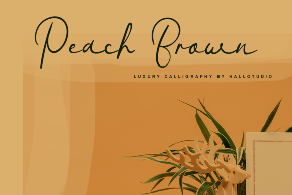 Peach Brown Font By hallotudio Image 1