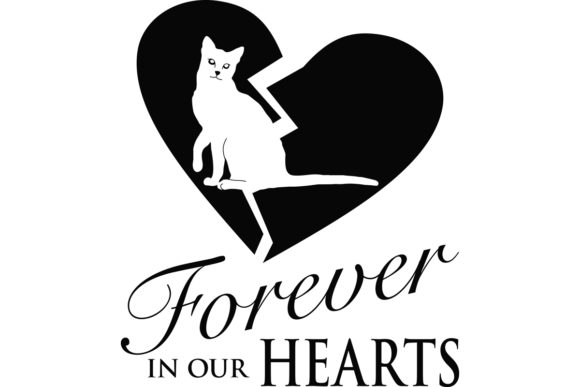 Download Free Pet Memorial For A Cat Graphic By Idrawsilhouettes Creative for Cricut Explore, Silhouette and other cutting machines.