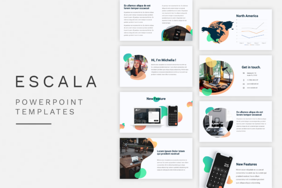 Print on Demand: Powerpoint Escala Clear Graphic Presentation Templates By 811std
