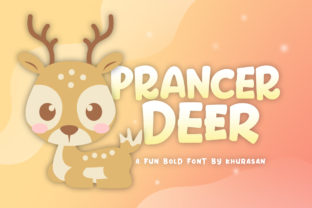Prancer Deer Display Font By Khurasan