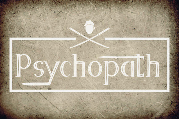 Print on Demand: Psychopath Display Font By Dawn Studio